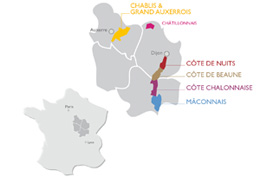 © BIVB / DR Location of the Burgundy vineyard in France